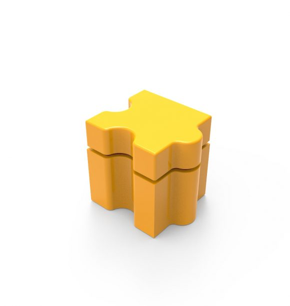 Puzzle Puff Stool